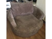 Corduroy swivel large comfy sofa chair