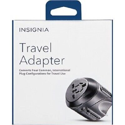 Insignia - Travel Adapter - Black with 4 plug configurations New in Box