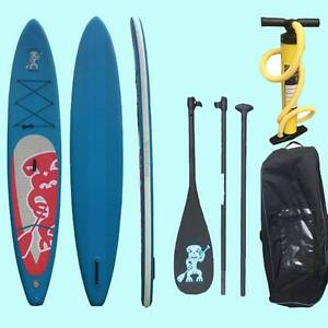 Inflatable stand up paddleboard package with carbon fibre paddle Pottsville Tweed Heads Area Preview
