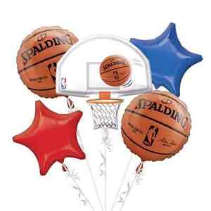 2 NBA Balloon Bouquet 5pc - Spalding
