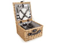 NEW Coast & Country - 2 Person Willow Picnic Hamper Basket