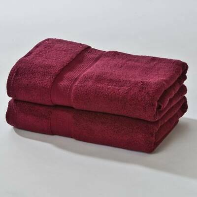 Set of 4 - Homestead Textiles Pima Cotton 30″ x 56″ Bath Towels Burgundy