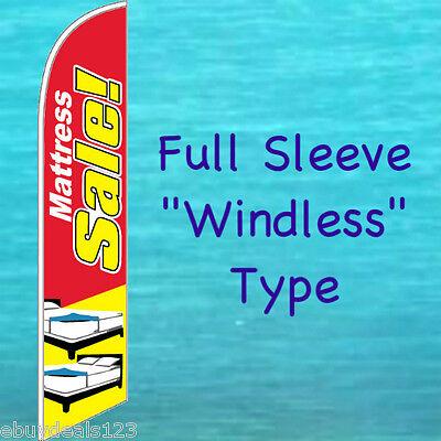 Mattress Sale Windless Feather Flag Swooper Flutter Banner Tall Advertising Sign