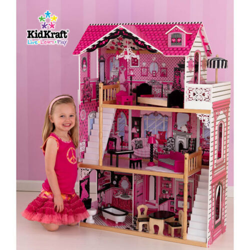 Lovee Doll Amp Toy Co : Kidkraft amelia wooden kids dollhouse dolls house