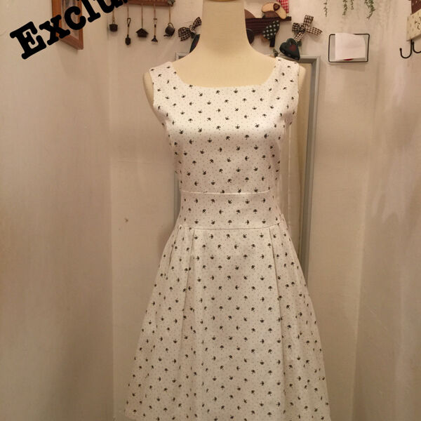 BN White Small Umbrella Dress