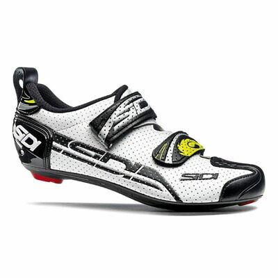 Zapatillas de carretera SIDI T4 Air Color: Blanco con negro: Talla: 46