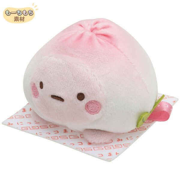 Sumikko Gurashi Tapioca Peach Bun mini Plush Doll Minikkoman San-X Japan