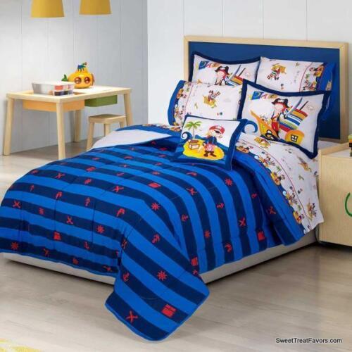 PIRATES KIDS Comforter Reversible Decoration Blanket Gift FULL BOYS SHIPS 4PCS
