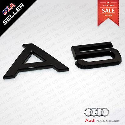 ABS Nameplate Audi A5 Gloss Black Emblem 3D Trunk Logo Emblem Badge Decoration