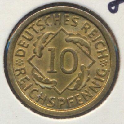 Deutsches Reich Jägernr: 317 1936 J vorzüglich 1936 10 Reichspfennig (7869094