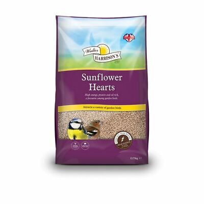 Walter Harrisons Sunflower Hearts Seed Bird Food for Sparrow Chaffinches 12.75kg