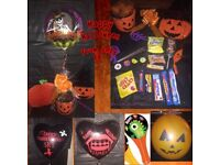 Halloween treat buckets and balloons for any occasion