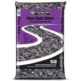 Slate chippings/ gravels - plum 20mm - 20kg bag - above 30 available