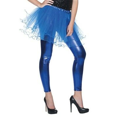 KOSTÜM ZUBEHÖR LEGGINGS METALLIC BLAU FASCHING - Metallic Leggings Kostüm