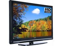 "Sharp 32"" inch LCD TV HD Ready with Freeview Built in, 2 x HDMI + USB Port not 37 40"