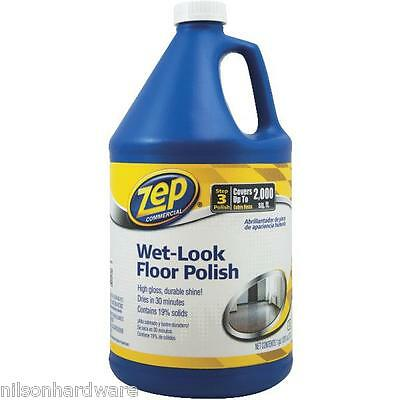8 Gal Zep Commercial Wet Look Vinyl Floor Polish ZUWLFF128