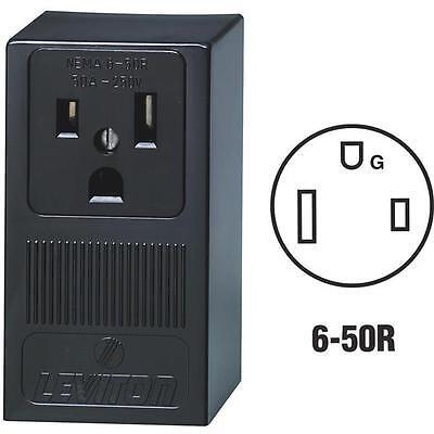10-leviton 50a Surface Mount 2 Pole 3 Wire Black 6-50r Welder Power Outlet 5378