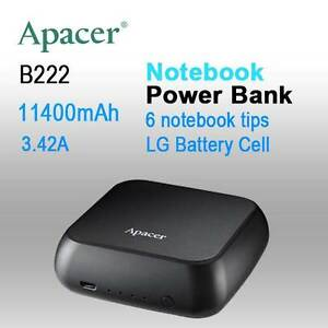 APACER mini NOTEBOOK POWER BANK B222 11400mAh with 6 tips,2x Fast Melbourne CBD Melbourne City Preview
