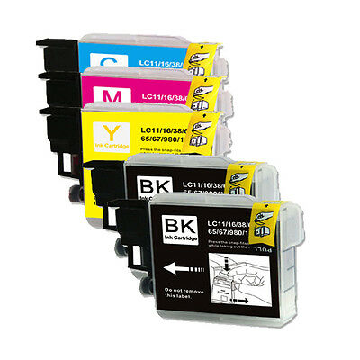5 Pack BCMY Ink Set For Brother LC61 MFC 490CW 495CW 585CW 5490CN 5890CN 6490CW