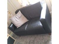 Black sofa and chair