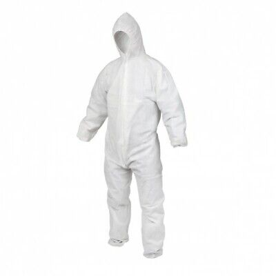 OX PP Single Use Disposable Coverall White 40G (Various Sizes) Safety Suit