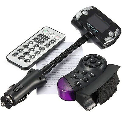 Car Kit Handsfree Wireless Bluetooth FM Transmitter MP3 Player USB SD LCD Remote on Rummage