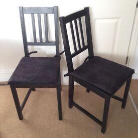 Set of 6 IKEA Stefan chairs
