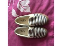 M&S Canvas Shoes, childs UK 10