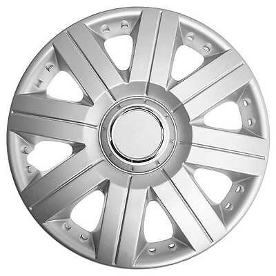 Torque 14 Inch Boxed Wheel Trim Set of 4 Silver Hub Caps Covers - TopTech