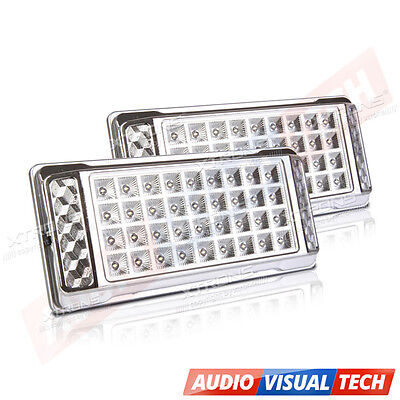 2x Bright White 36 LED Car Van Vehicle Roof Dome Interior Light Hat Lamp DC 12V