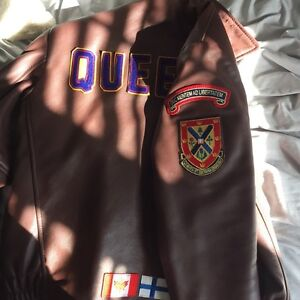 Queen's Leather Jacket women Small