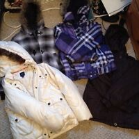 Couple sweaters, winter coats, & boots