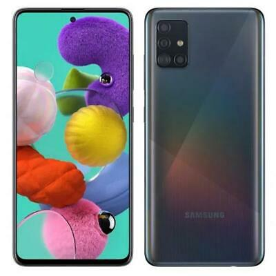 "SAMSUNG A51 PRISM CRUSH BLACK 128GB ROM 4 GB RAM DUAL SIM Display 6.5"" Full HD"