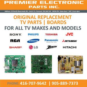 All Parts for TV's LED LCD PLASMA TELEVISIONS WWW.TVPARTS.CA