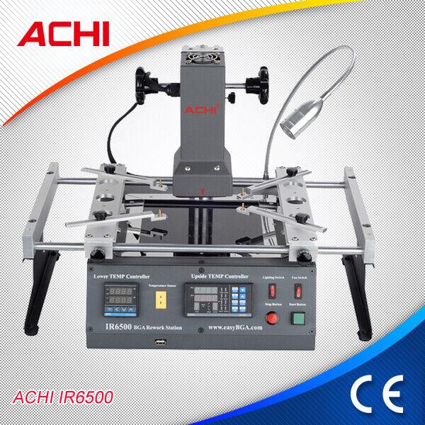 ACHI IR6500 BGA Rework Station Repair Heating Infrared Reballing Machine 220V