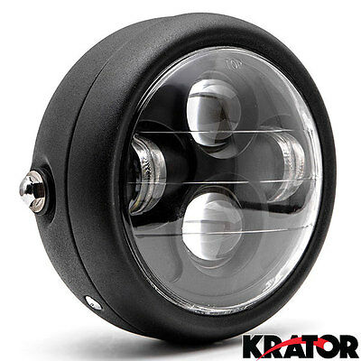 "6.5"" Motorcycle Projector Daymaker Headlight Hi/Lo LED Light Bulb For Harley BK"