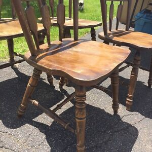 Solid wood Kitchen chairs (4)