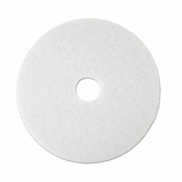 "3M 4100 Super Polish Pad, 17"" in White (Case of 5) - New Damaged Box"