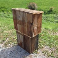 Rustic speakers lectern for convention or wedding