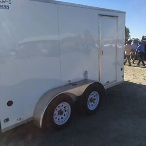 Fully enclosed trailer with portable power system