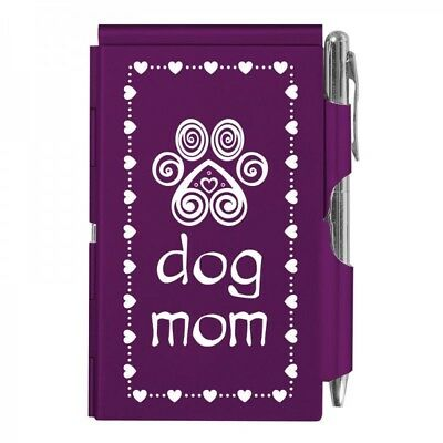 2141 Dog Mom Wellspring Flip Note Pocket Notepad Purple Paw Puppy Love Heart