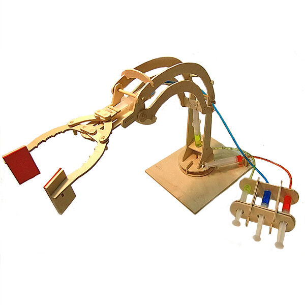 Simple Hydraulic Robotic Arm Designs : New hydraulic machines robotic arm working wooden