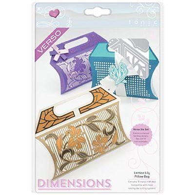 Tonic Studios Dimensions Die Set Lattice Lily Pillow Bag | Set of 15