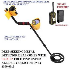 NEW Deep Seeking Metal Gold Coins Detector & Pinpointer Combo set Success Cockburn Area Preview