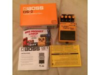 Boss DS-2 Turbo Distortion Guitar Effects Pedal, Fully Working And Boxed