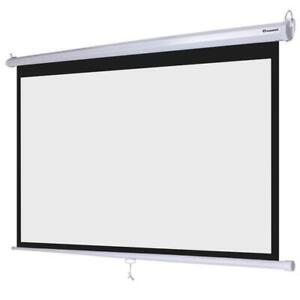 PROJECTOR SCREENS 90 INCH,100 INCH NAME BRAND DRAPER, LUMA , INFOCUS OPEN BOX