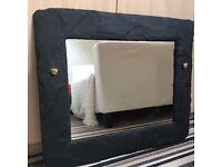 Black slate mirror