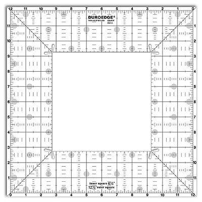 Duroedge Non-Slip Ruler - 12.5 x 12.5 Inch Square Ruler [KR-0125]