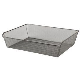3 x ikea Komplement dark grey mesh basket drawers