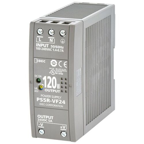 BRAND NEW IDEC PS5R-VF24 POWER SUPPLY INPUT: 100-240VAC OUTPUT: 24VDC @ 5A,120W